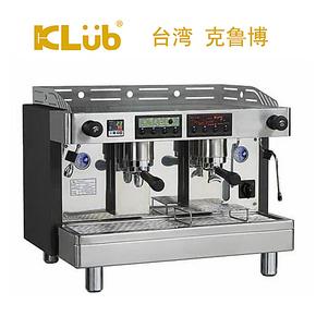 klub克鲁博 LT2 双孔鲜茶半自动咖啡机 一茶一咖 商用意式 茶咖机