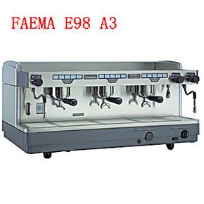 意大利进口Faema飞马E98 A3 专业商用意式电控半自动咖啡机 三头