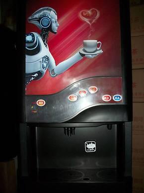 心连心全自动速溶咖啡机 商务咖啡机 98型三料盒台式智能冷机