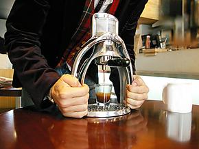 YAMI 海鸥式手压咖啡机 意式咖啡机 咖啡壶 (金色)车载咖啡机