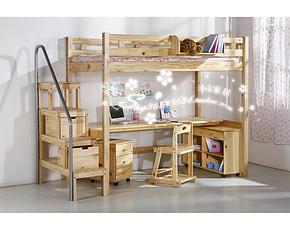 儿童床双层床 实木高低床 儿童上下床 多功能床 组合床带书桌