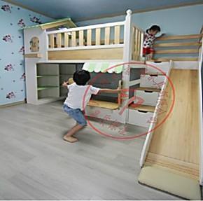 实木儿童床 上下床高低子母床双层床 儿童实木床滑梯床小屋床