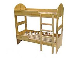 幼儿园木床 双人高低床 幼儿木床批发 儿童木板床 定制木床厂家