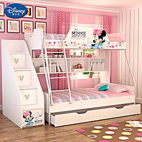 迪士尼双层儿童床高低床子母床双层床上下床公主床上下铺