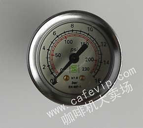 【佰特莱】RANCILIO兰奇里奥咖啡机 水压表