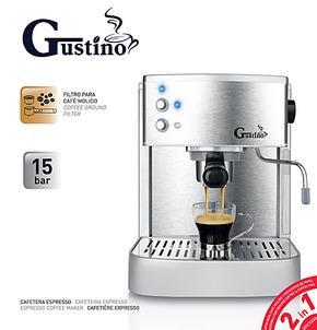 包邮 gustino泵压式家用咖啡机 意式半自动 不锈钢 商用咖啡壶