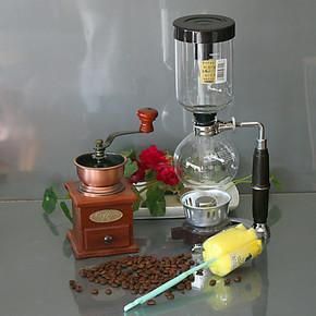 手摇磨豆机手动磨咖啡豆机MD22 日式酒精灯虹吸壶咖啡机组合套装