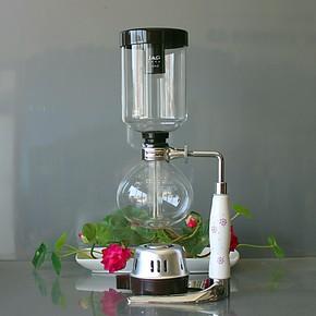 精工高硅硼虹吸壶 玻璃咖啡机 酒精灯咖啡壶 日式咖啡机