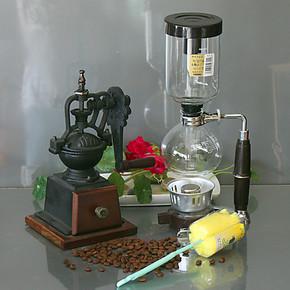 日式咖啡机套装 酒精灯咖啡机虹吸壶 手动咖啡豆磨机磨粉器MD11B