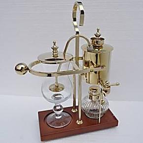 金色皇家比利时壶 玻璃咖啡机 送礼酒精灯咖啡壶