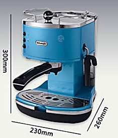 Delonghi/德龙 ECO310B德龙泵压式特浓半自咖啡机蓝色