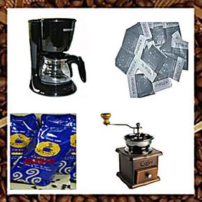 包邮西门子咖啡壶CG7213咖啡机家用滴滤式/手摇磨豆机/咖啡豆糖包