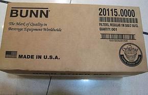 美国原装进口 BUNN 商用美式咖啡机滤纸 10-12人份 正品 谨防假冒