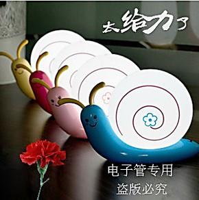 可爱蜗牛灯创意小夜灯USB充电小台灯LED环保节能灯可挂式生日礼品