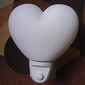 金捷斯高品质LED节能小夜灯 心形 床头灯 创意环保小夜灯带开关