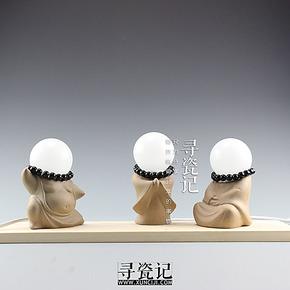 寻瓷记/禅意小和尚启明灯/景德镇陶瓷创意台灯/小夜灯/环保节能灯