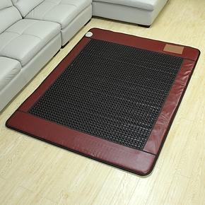 【御缘正品】玉石床垫-锗石床垫保健床垫-酒红办色圆黑锗石
