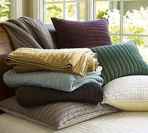 P家 双面真丝手工绗缝被 床盖套件双人床品 空调被枕套靠枕套外贸