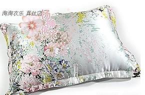 100%真丝纯桑蚕丝 印花床品套件枕套 被套 床单