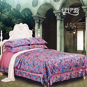 伊伊爱 床品双面真丝床上用品四件套桑蚕丝秋冬套件正品特价包邮