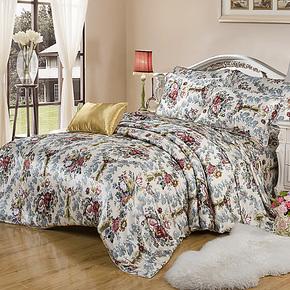 依纱贝拉 真丝四件套  100%双面真丝床品套件 真丝被套床品四件套