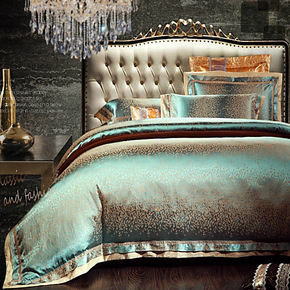 天丝贡缎提花四件套件床上用品四件套公主床品全棉欧式家居六件套