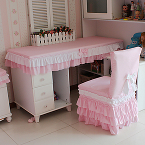 花开木木 田园风格  公主床品套件配套可爱粉红小格子桌布