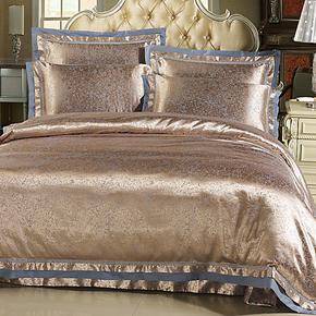 欧式全棉床上用品提花四件套天丝贡缎家纺床品婚庆被套六件套纯棉