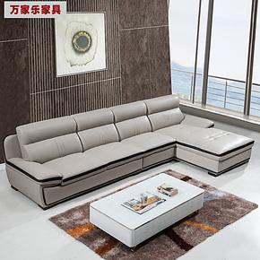 三包到家进口头层中厚牛皮真皮沙发组合现代客厅休闲皮艺沙发转角