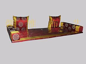 床垫、中式床垫、真丝锦缎罗汉床床垫5件套、明清古典床垫可定制