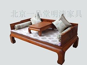 床垫、中式床垫、厂家直销、真丝锦缎罗汉床床垫5件套、可定做