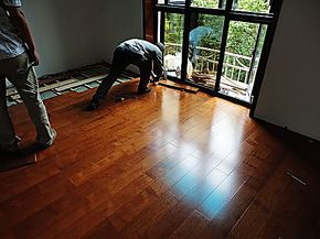 自发热碳晶地暖地板 暖芯地板 实木 地暖地板二合一 碳晶